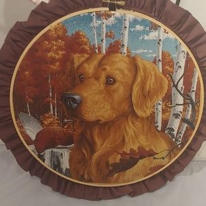 Golden retriever hoop art